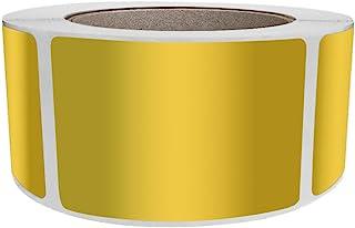 皇家*金属标签贴纸 3x2 英寸 (76mm x 51mm) 长方形金色贴纸卷 - 500 张