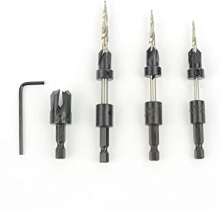 W L Fuller 10349003C Countersinks and Matching HSS Taper Point Drills, Set of 3