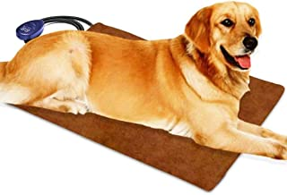 宠物加热垫适用于猫狗电动,Berocia 可调节温度防水宠物床加热器带防咀嚼绳柔软可拆卸罩过热保护