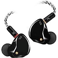 入耳式监听耳机,有线耳塞,带 Tesla Drivers MMCX 可拆卸电缆带镀金连接器,隔音耳机,适用于音乐家、鼓手…