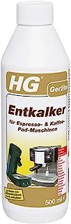 HG 除垢剂 适用于意式浓缩咖啡和咖啡垫机 ( 500毫升 ) – 一种清洁剂,用于除垢咖啡垫机器如 Senso