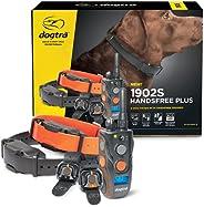Dogtra 1902S HANDSFREE-Plus 2 狗狗远程训练电子项圈,带可扩展免提方形,可谨慎控制人体工程学,可充电 3/4 英里(约 1.9 公里)范围防水高输出