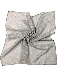 Shanlin 中性款棉质方形头巾围巾 24x24