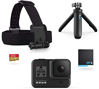 GoPro Hero8 黑色零售包 - 包括 Hero8 黑色相机Plus Shorty、头带、32GB SD 卡和 2 个可充电电池