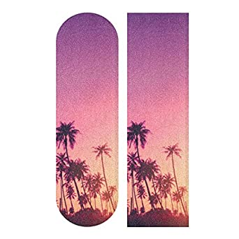 Auskid 热带棕榈树剪影滑板抓地带,长板抓地带,滑板车抓地带,砂纸,适用于滚轮板、楼梯、踏板、轮椅、台阶,1 张 ¡