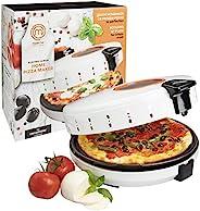 MasterChef 披薩機 - 電動旋轉 12 英寸(約 30.5 厘米)不粘鍋 Calzone 炊具 - 臺面披薩餅餅和 Quesadilla 烤箱 w 可調節溫度控制