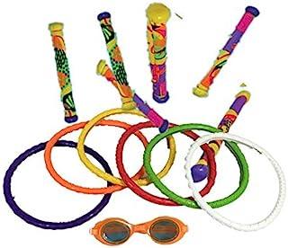 水下泳池潜水玩具组合,驾驶环和护目镜棒