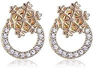 雪花耳环 带施华洛世奇 ® 奥地利水晶和 18K 镀金
