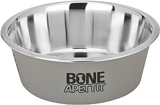 PetFun Bone Appetit 宠物碗 – 黄昏,50 盎司(约 1.5 升),大号,可用洗碗机清洗,不锈钢碗,用于水,食物。宠物用品