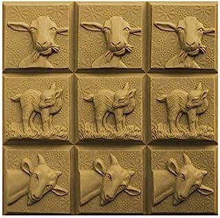 CYP 三山羊趣味山羊 PVC 肥皂模具托盘 - 融化和倾倒 - 冷处理 - 透明 PVC - 非硅胶 - 美国制造!