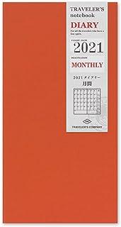 Traveler's Note 手账记事本 替换纸 2021年 A5细长 月记 14418006 (2020年 12月开始)