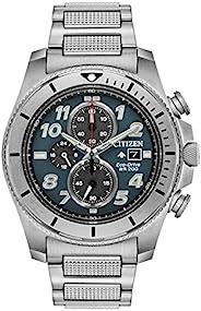 Citizen 西铁城 男士 光动能石英 不锈钢表带 银色 22 休闲手表 (型号:CA0720-54H)