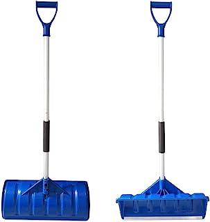 """MTB SUPPLY 雪铲 黑色/蓝色,2 件装 52"""" L Shovel& Pusher,Blue"""