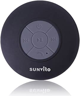 Mfine 全新圆形防水无线蓝牙淋浴扬声器免提扬声器兼容所有蓝牙设备 iPhone 5s 和所有安卓设备,为您的淋浴或户外旅行带来极大的乐趣。EP926A-Yellow