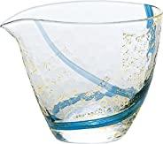 东洋佐佐木玻璃 冷*玻璃壶 蓝色 300 毫升 单口 江户玻璃 八千代窑 日本制造 63700