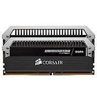 Corsair海盗船DOMINATOR银灰色系列 32GB (2 x 16GB) DDR4 系统内存套件 (CMD32GX4M2B3000C15)