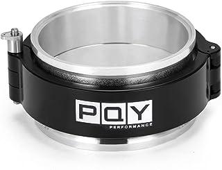 PQY Uiversal 防漏 2.5 英寸(约 6.3 厘米)/ 3 英寸(约 7.6 厘米)铝制快速释放 V 形带夹具套件,进气中冷器管节流阀接头套(2 英寸)
