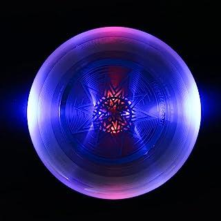 EZGETOP Ultimate Disc 175 克黑暗中发光飞盘,LED 发光飞盘,易于投掷和捕捉飞盘,适合所有年龄段的乐趣,非常适合草坪、公园、后院游戏和尾板