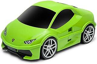 Ridaz Green Lambo Huracan 儿童手提行李箱 带轮子
