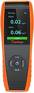 Temtop 空气质量检测仪 专业甲醛检测仪 HCHO/PM2.5/PM10/颗粒/AQI 精准测试 黑色 LKC-1000S+