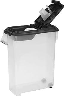 Buddeez 50QT PET 食品分配器,带黑色盖子和勺子