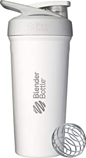 Blender Bottle Push-Button 隔热摇杯 白色 24-Ounce