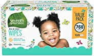 Seventh Generation *七世代 婴儿湿巾,自由透明无香型和敏感,温和如水,带翻盖式分配器,768 片(包装可能有所不同)