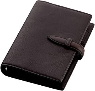 Brelio Minerva系列 活页手帐 记事本 圣经本尺寸 19毫米带子 巧克力色