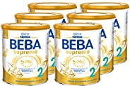 Nestlé BEBA雀巢贝巴 SUPREME 2段婴儿后续奶粉:6个月后奶粉,6袋(6 x 800g)