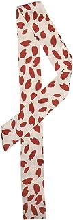 Allegra K 女式紧身丝带领巾心形图案窄发手腕围巾头带手提包手提包