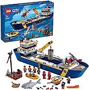 LEGO 乐高 60266 城市海洋探险船 浮动玩具船 深海水下套装 儿童潜水探险