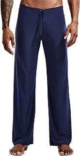 男士丝绸瑜伽裤,冰丝哈伦瑜伽普拉提休闲裤,带抽绳