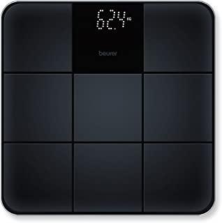 Beurer GS 235 玻璃体重计,数字式浴室体重计,具有魔术显示和瓷砖外观的防滑表面