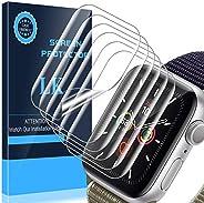 LK [6 件装] Apple Watch 系列 5 44 毫米柔性 TPU 薄膜*大覆盖防刮擦高清透明,提供终身更换保修