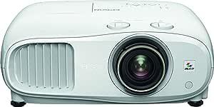 Epson 爱普生 EH-TW7100 3LCD,4K PRO-UHD投影仪,3000 流明,500 英寸显示屏,广角镜头移位范围,家庭影院,流媒体和游戏投影仪 - 白色