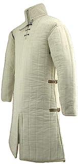 AnNafi 中世纪 Gambeson 加厚长外套带全袖盔甲 Aketon 夹克装甲服装棉面料