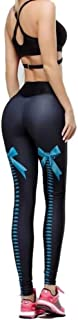 Solstice 潮流性感修身紧身裤 3D 印花高腰涤纶锻炼瑜伽打底裤