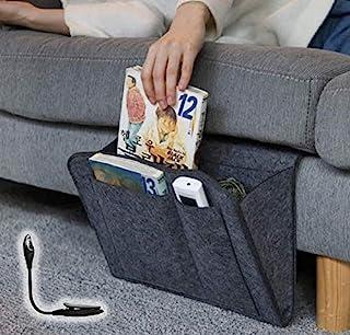 Inovare Designs 床头收纳架,可远程控制的床上收纳收纳架,可悬挂的侧口袋袋收纳袋,适用于纸箱、护理、露营、宿舍床、房间整理袋架
