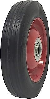 实心橡胶扁平自由轮胎 15.24 厘米 x 3.81 厘米手推车轮 - 3.18 厘米偏移轮毂 - 1.59 厘米轴 - 承重 158.
