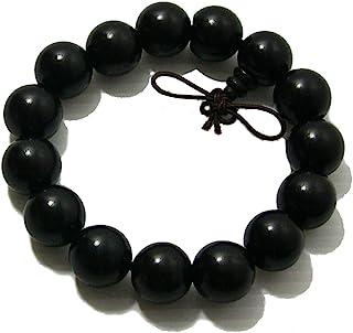 男士女士藏青佛 15 毫米檀香木珠 Fo Kwan-yin Mala 冥想手镯瑜伽手链