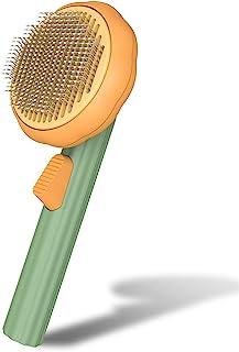 宠物南瓜自清洁滑动刷适用于狗猫小狗兔子,狗狗*刷工具温和去除松散的底层,猫垫缠绕的*梳子适用于短发和长发