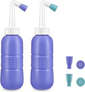 2 件套便携式坐浴盆,450 毫升便携式坐浴盆,旅行坐浴盆,手持个人坐浴盆,2 个喷嘴(蓝色和*),Puerpera 清洁器,用于产后护理和恢复