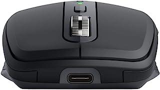 Logitech 罗技 MX Anywhere 3 小型性能鼠标 – 无线,磁性滚动,符合人体工程学,4000DPI 传感器,自定义按钮,USB-C,蓝牙,Apple Mac,iPad,Windows PC,Linux,Chrome - GRA...