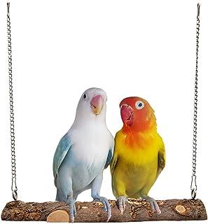 DuvinDD 鸟秋千栖息地鹦鹉笼悬挂玩具 天然木笼配件 适用于鹦鹉鹦鹉鹦鹉鹦鹉 Lovebirds Canaries