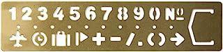 MIDORI 黄铜制 涂鸦模板式 书签 (数字图案)42168006