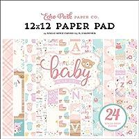 Echo Park Paper Company Hello Baby Girl 12x12 紙巾,粉色,青色,黃色,紫色,橙色
