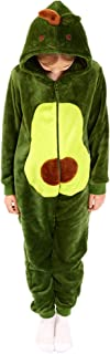 Kids Snug Fit 法兰绒鳄梨服装动物连体衣睡衣适合男孩和女孩。