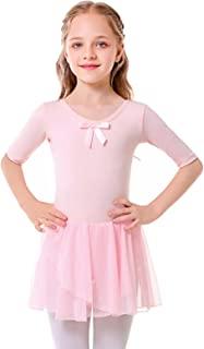 Bezioner 芭蕾裙,适合女孩舞蹈蓬裙芭蕾舞紧身连衣裤带裙,适合幼儿/小孩/大童