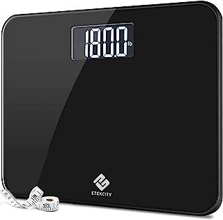Etekcity 高精度数字体重浴室体重秤 带超宽平台和易读背光液晶显示屏 400 磅