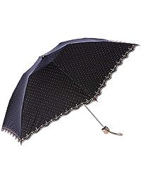 Moonbot LANVIN COLLECTION 女式 折叠伞 UV 隔热 遮光 圆点 轻便 时尚 雨天两用 女士